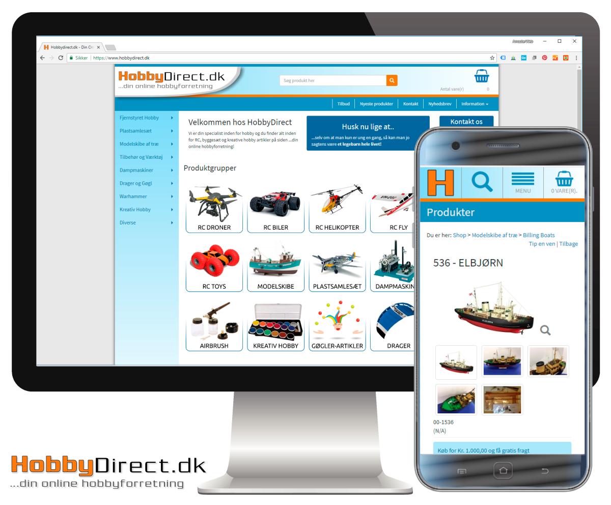 Nyt site til HobbyDirect.dk