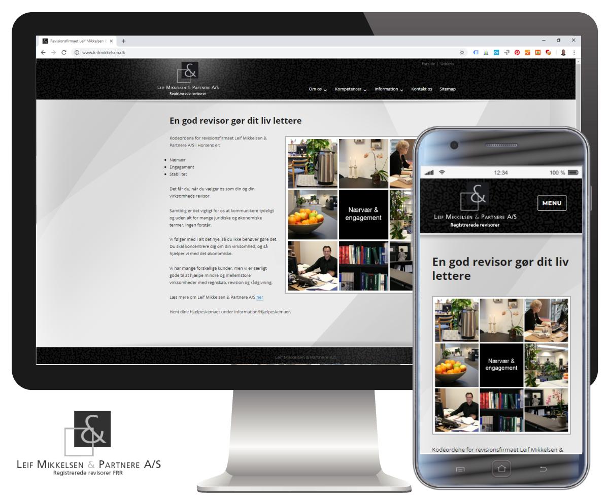 Hjemmeside bygget i WordPress