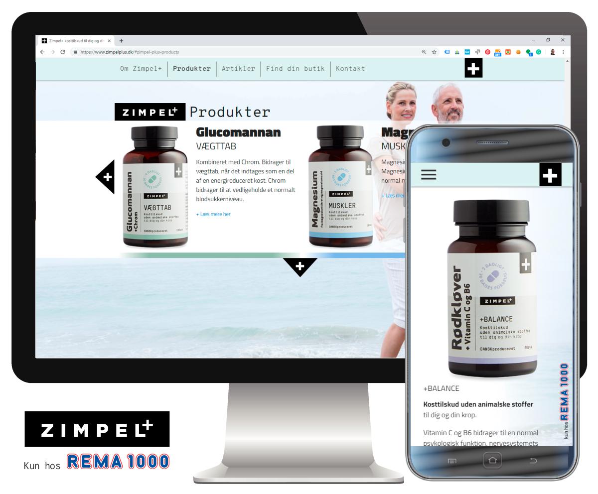 Specialprogrammeret site for Zimpel+